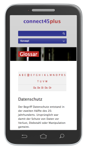 connect Glossar - mobile Ansicht