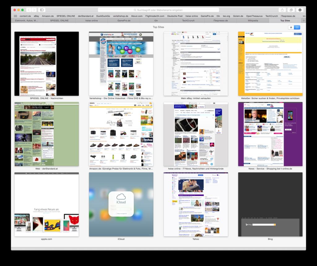 Browser Safari Abbildung