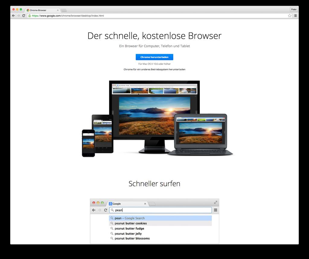 Browser Chrome Abbildung