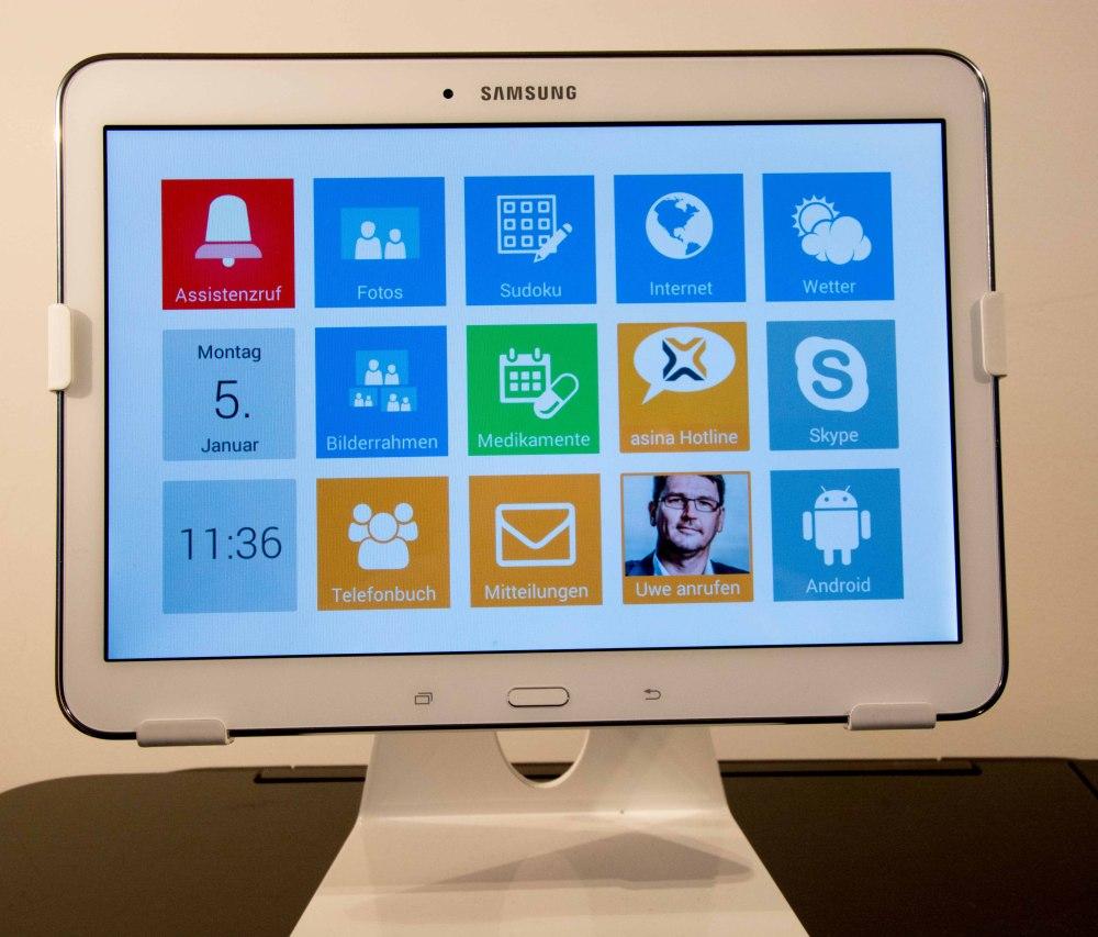 asina tablet Startbildschirm