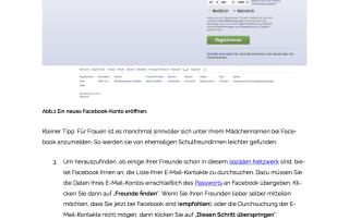 Facebook Anleitung Einstieg