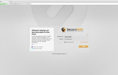 Securesafe Login_Web