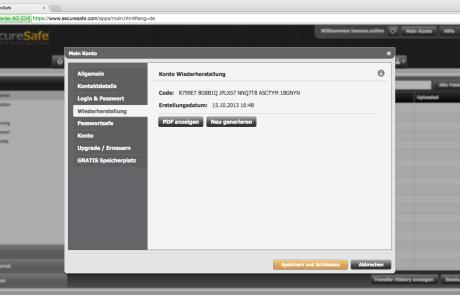 SecureSafe Wiederherstellungscode_Web