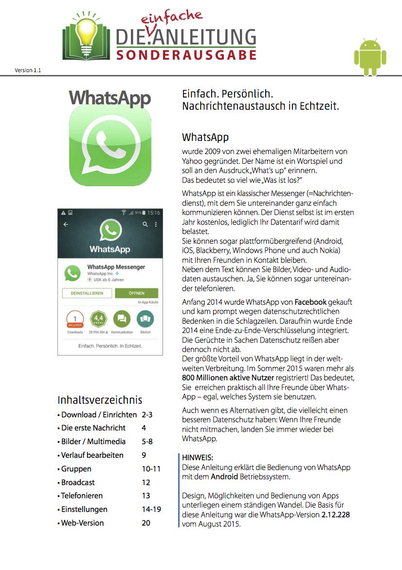 Die.Anleitung WhatsApp Android Seite 1