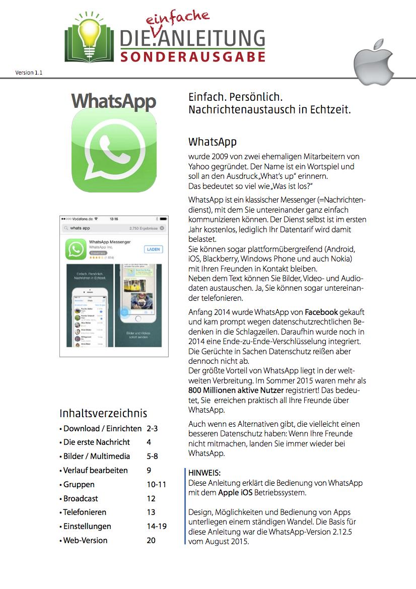 Die.Anleitung WhatsApp iOS Seite 1