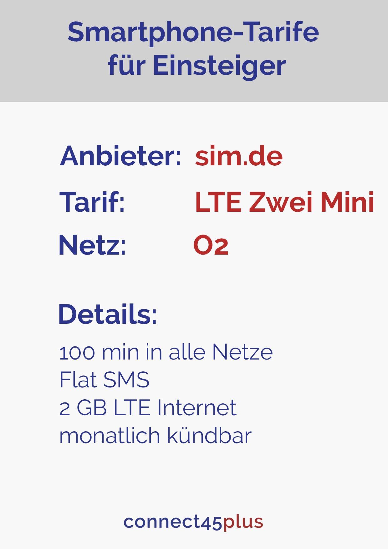 Tarif LTE Zwei Mini