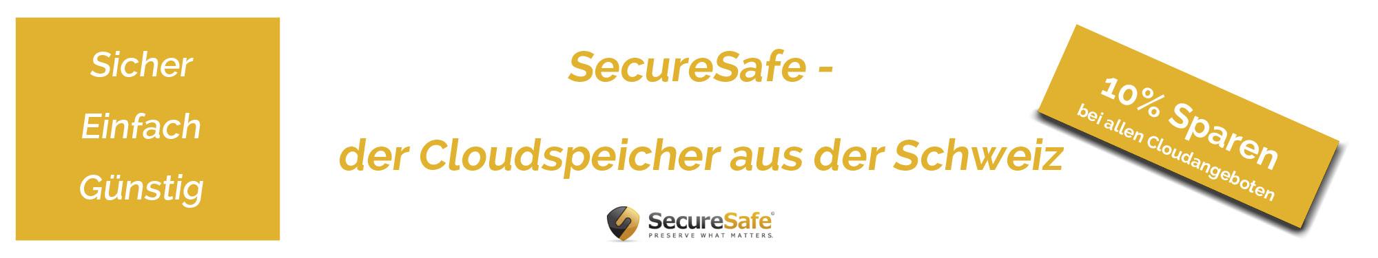 SecureSafe - sichererer Cloudspeicher