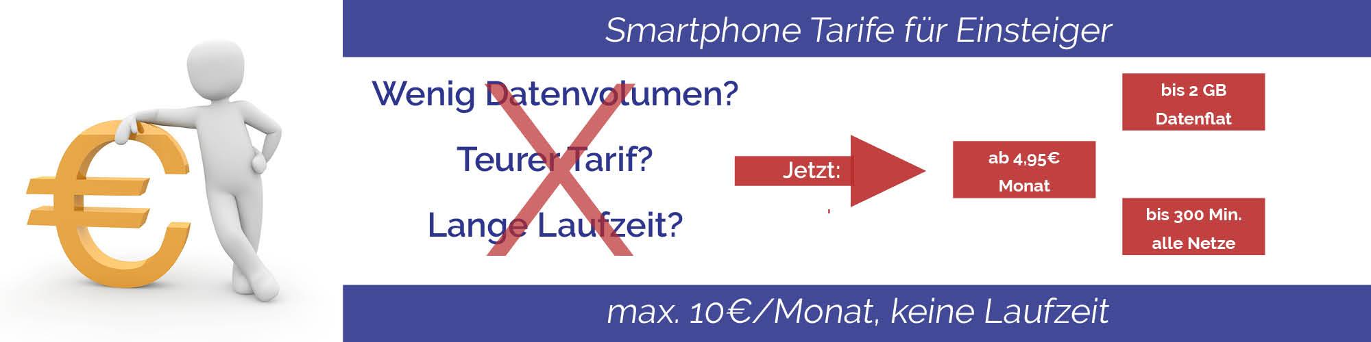 Smartphone Tarife für Einsteiger