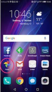 Google Fotos App erkennen