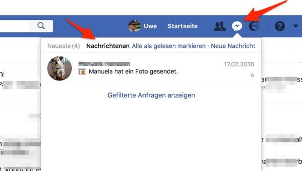 Facebook Anfragen von Fremden