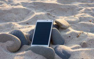 Mit dem Smartphone Urlaub machen.