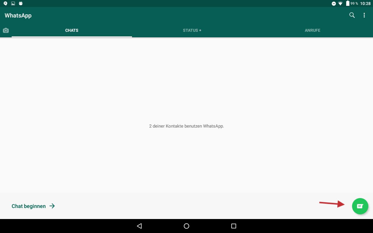 Abb 13 - WhatsApp fertig - Chat beginnen