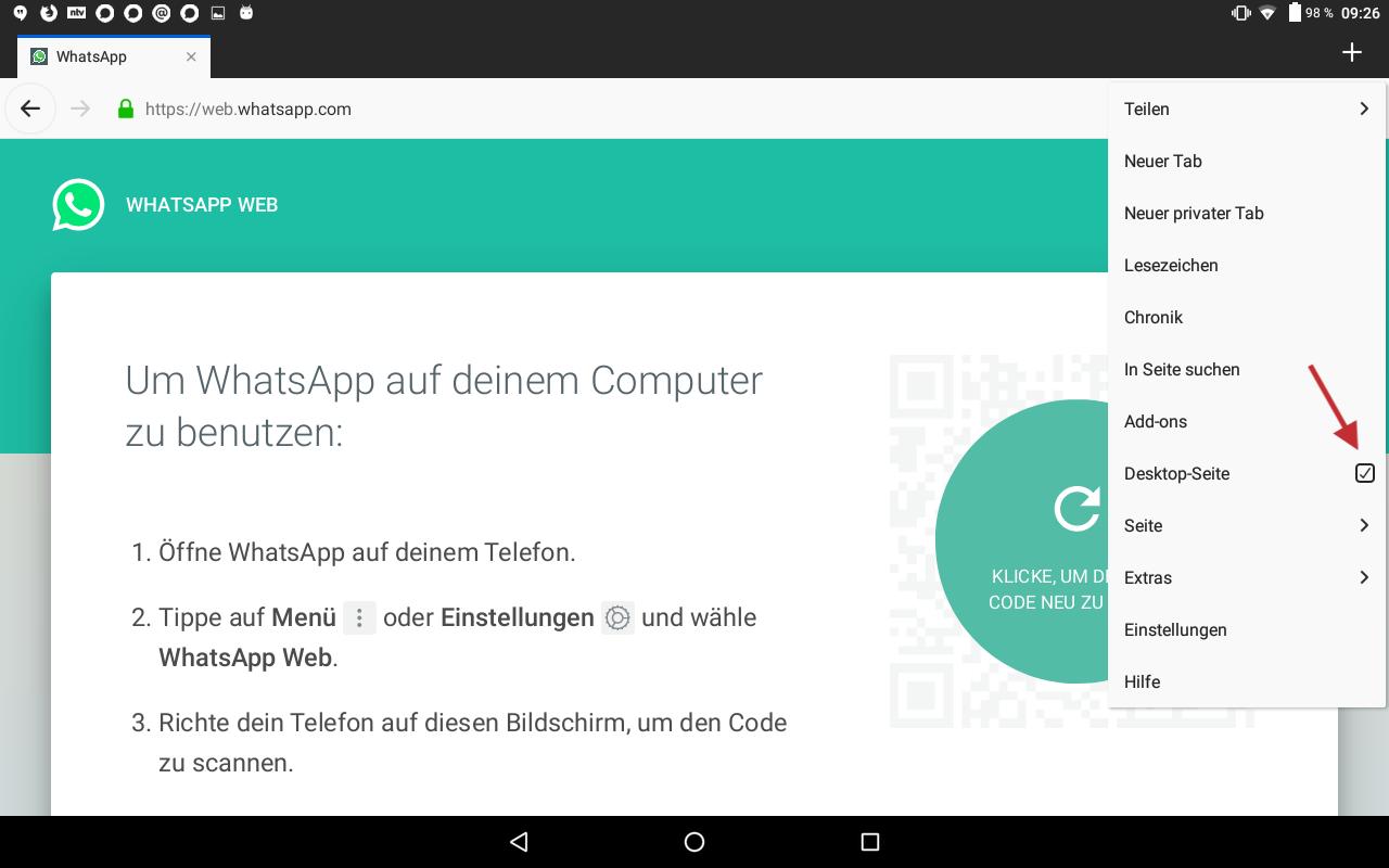 Abb 15 - WhatsApp Web installieren