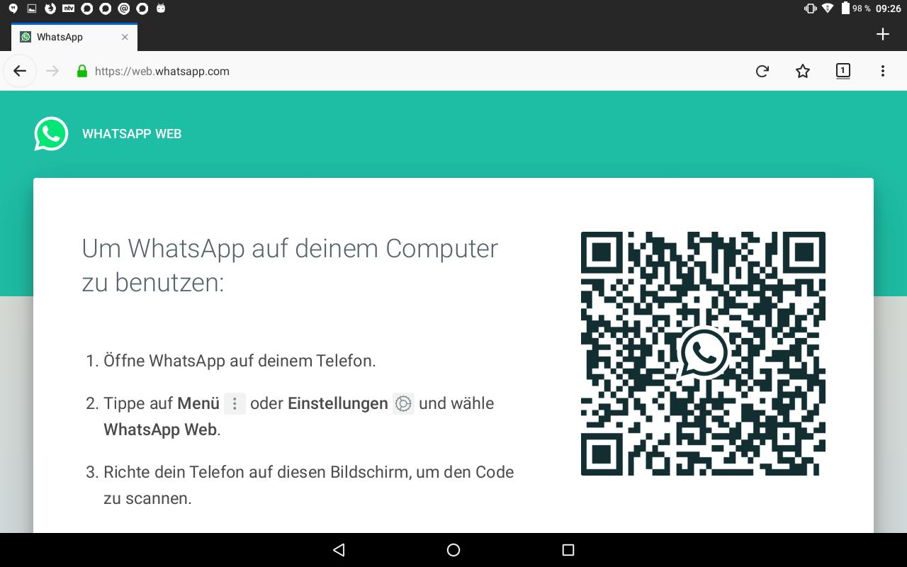 Abb 16 - WhatsApp Web QR code