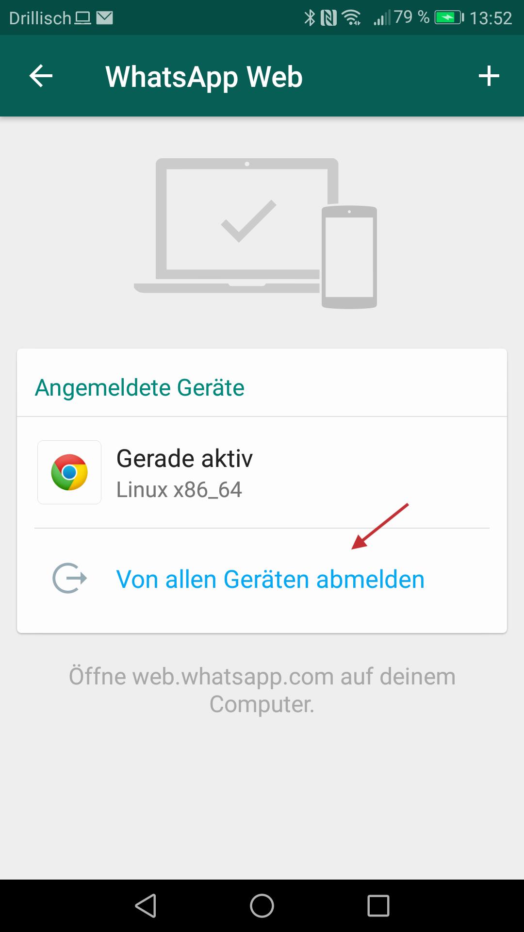 Abb 24 - WhatsApp Web QR Code scannen
