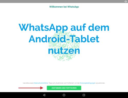 WhatsApp auf einem Android-Tablet benutzen