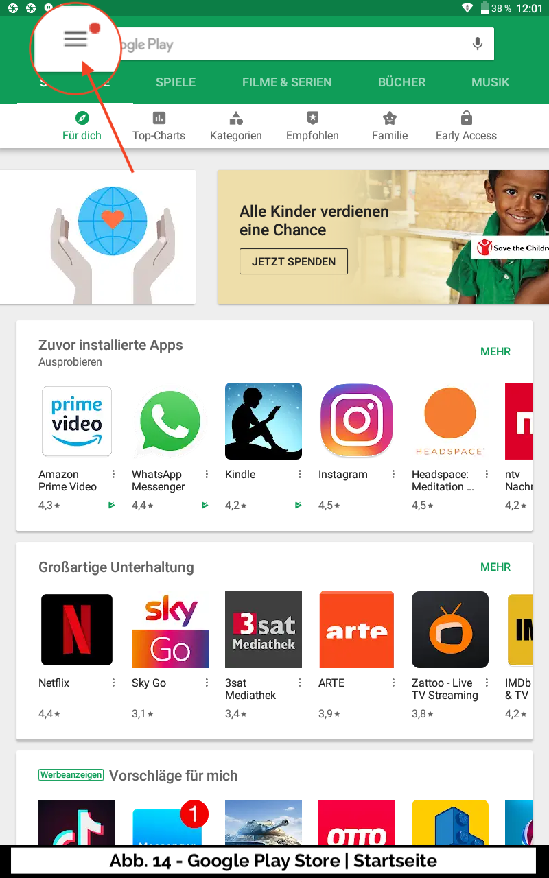 Abb 14 - Google Play Store Startseite
