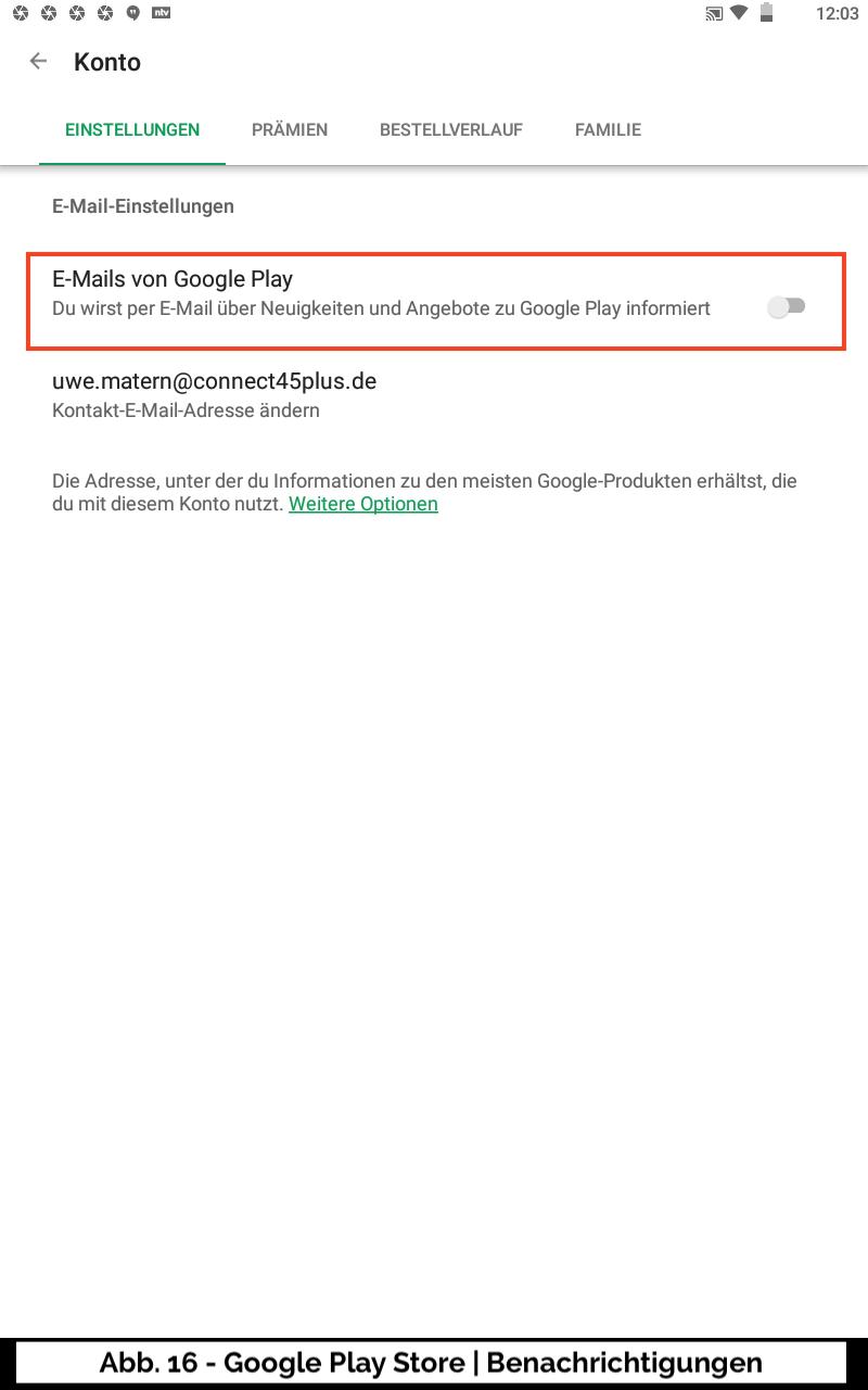 Abb 16 - Google Play Store Konto Benachrichtigungen