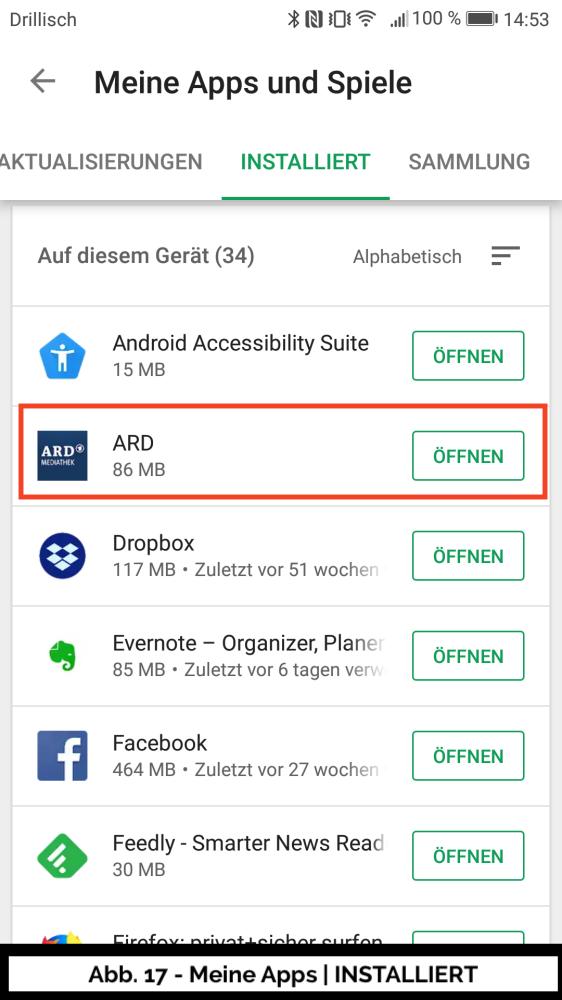 Abb 17 - Play Store Meine Apps installiert