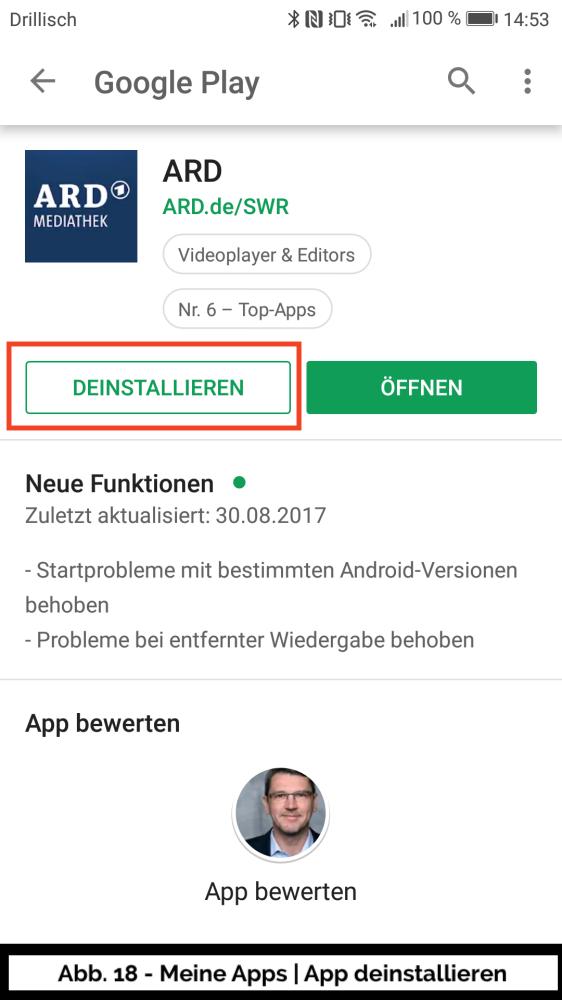 Abb 18 - Play Store Meine Apps Beispiel