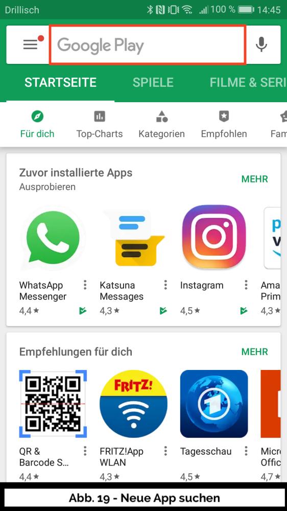 Abb 19 - Play Store Neue App Suchen
