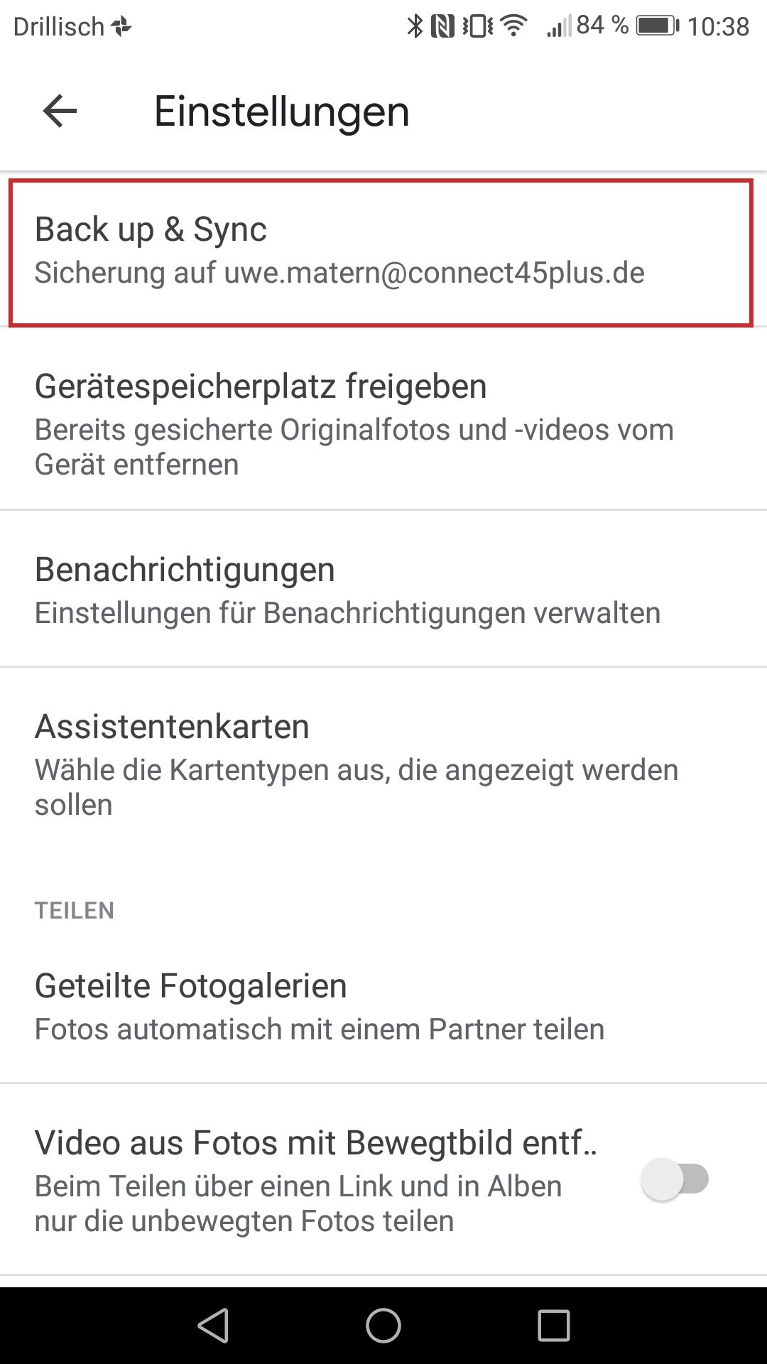 Abb 2 - Google Fotos Sicherung