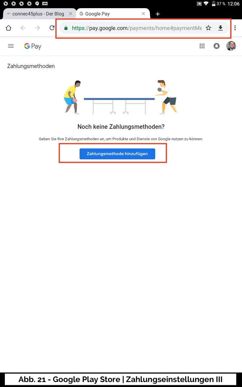 Abb 21 - Google Play Store Mehr Zahlungseinstellungen Online