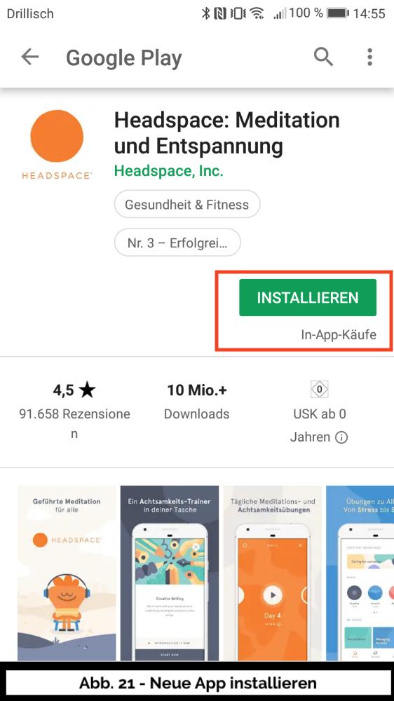 Abb 21 - Play Store Neue App installieren