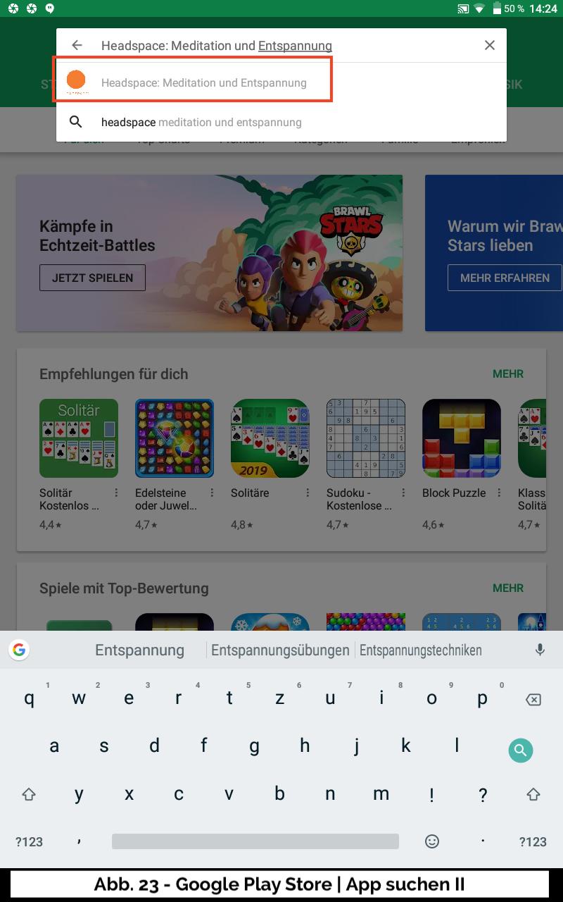 Abb 23 - Google Play Store App suchen II