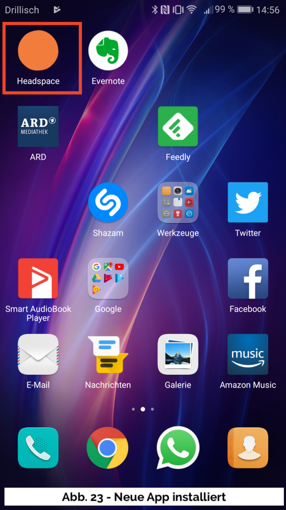 Abb 23 - Neue App Startbildschirm