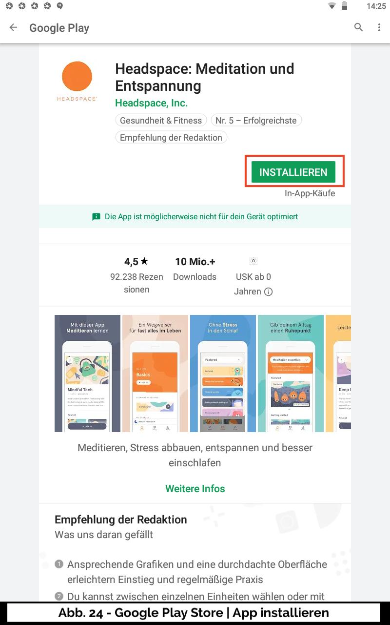Abb 24 - Google Play Store App installieren