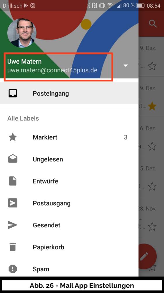 Abb 26 Mail Uebersicht