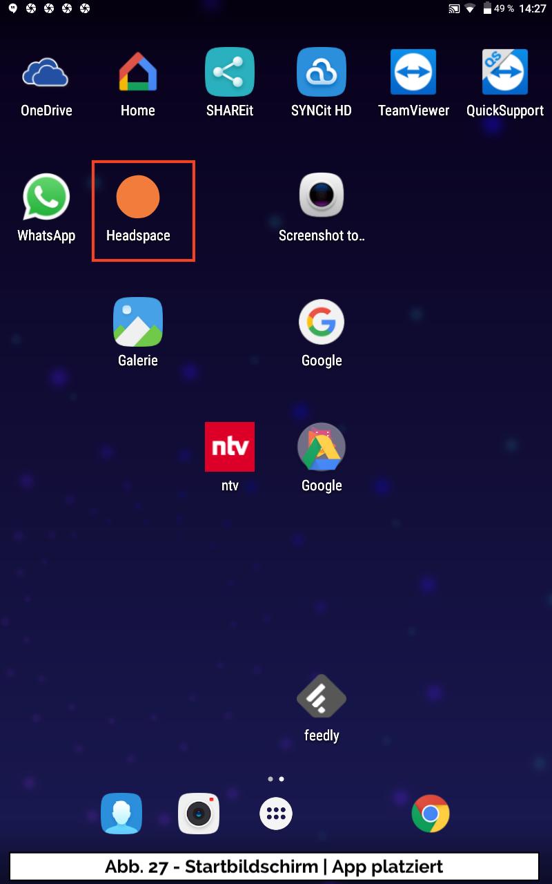 Abb 27 - Google Play Store App platziert