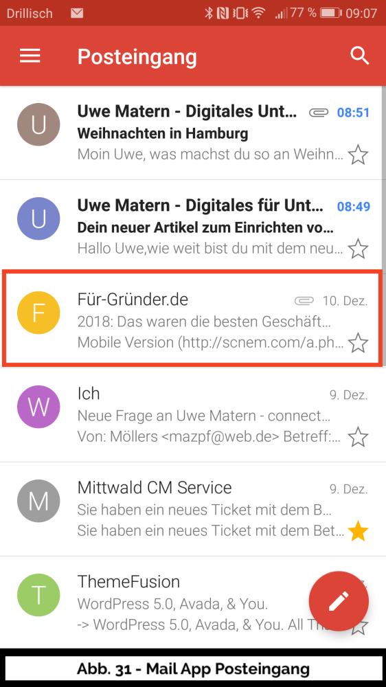 bb 31 Mail Uebersicht Details