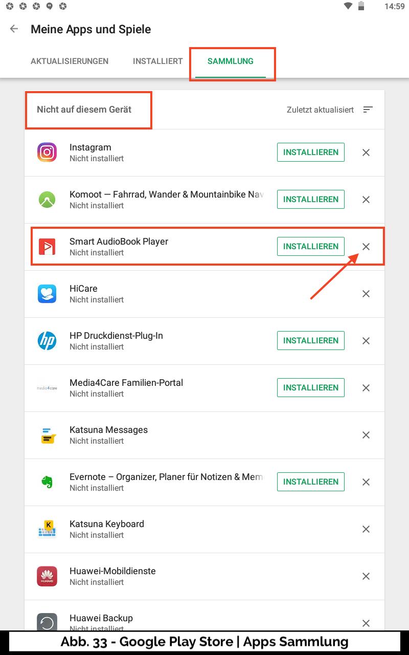 Abb 33 - Play Store Apps Sammlung