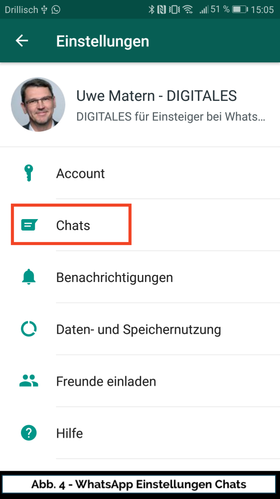 Abb 4 WhatsApp Einstellungen Chats