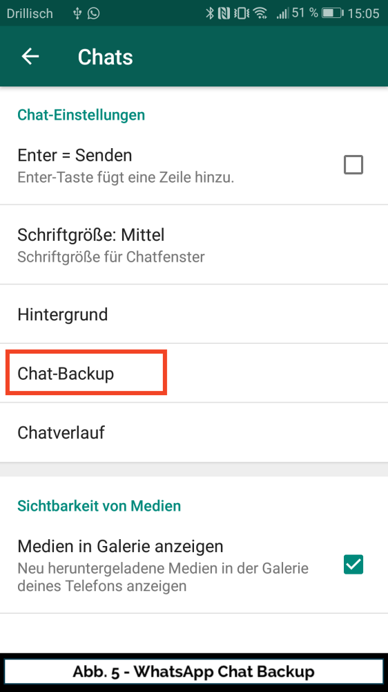 Abb 5 WhatsApp Chat Backup