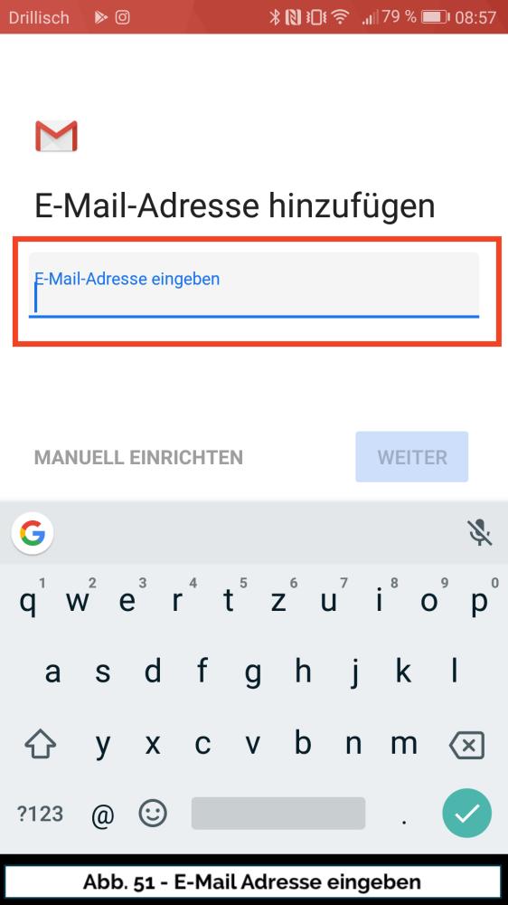 Abb 51 Mail Konto neu Adresse