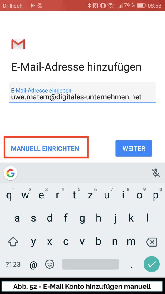 Abb 52 Mail Konto neu Adresse Manuell