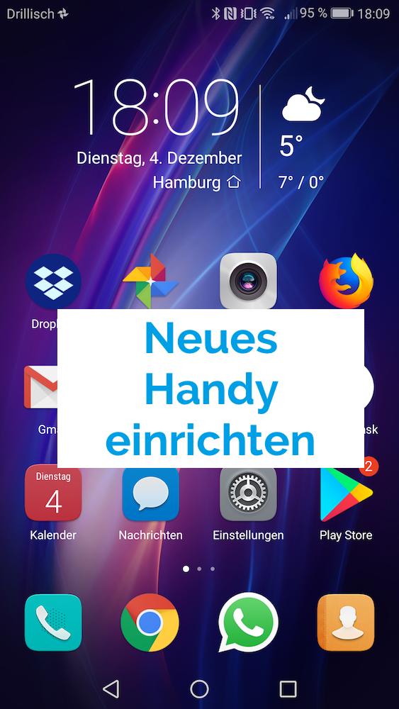 Neues Handy einrichten