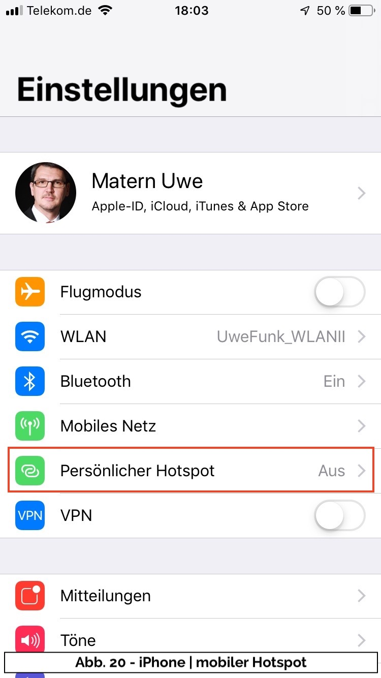Abb 20 - iPhone Einstellungen II