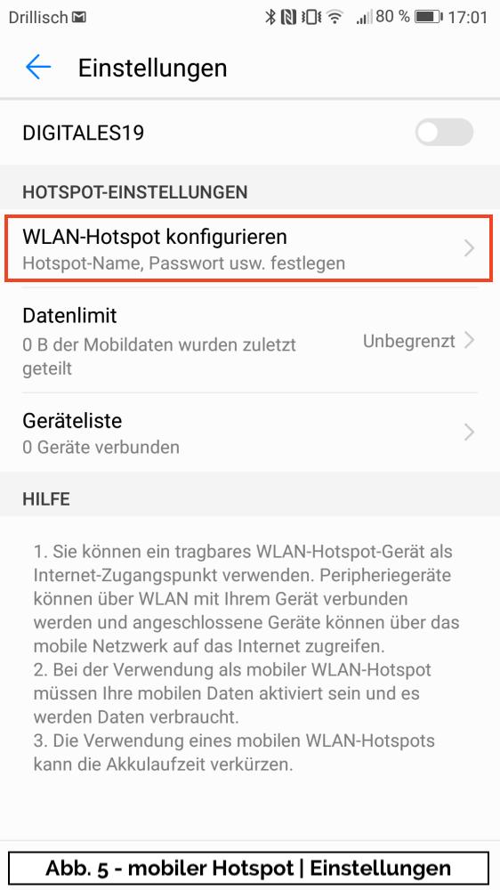 Abb 5 - mobiler Hotspot Uebersicht