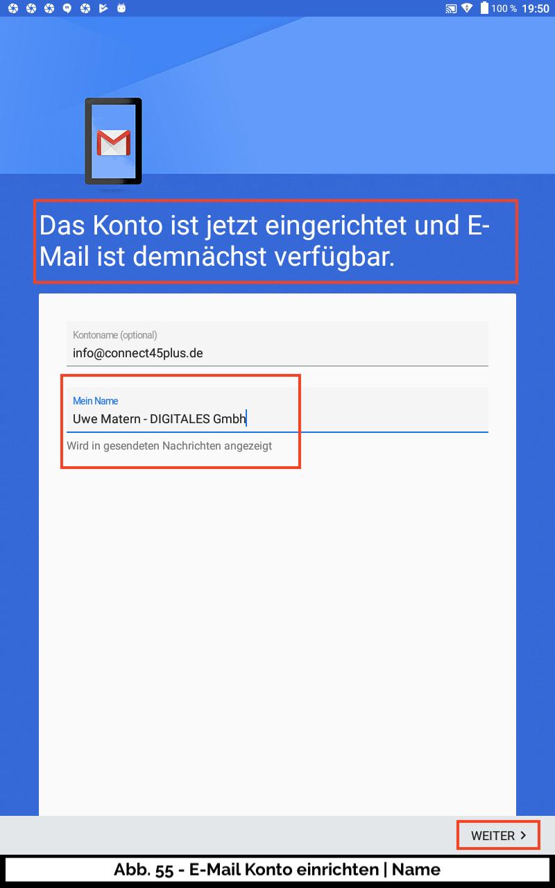Abb 55 - E-Mail Konto Name