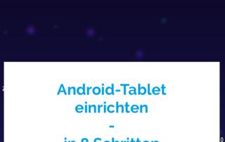 Android Tablet einrichten
