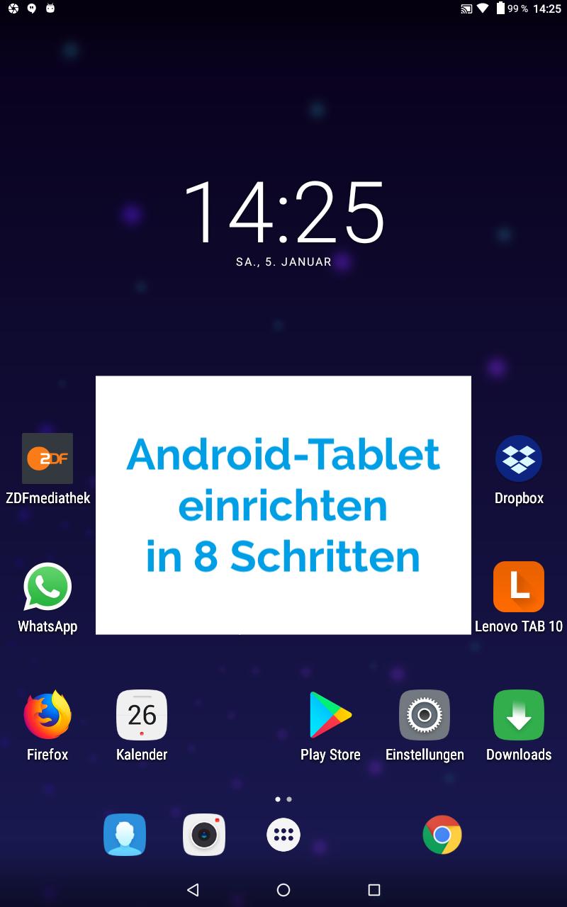 Android Tablet einrichten in 8 Schritten
