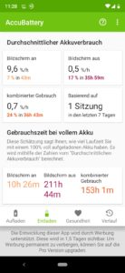 Screenshot der App AccuBattery