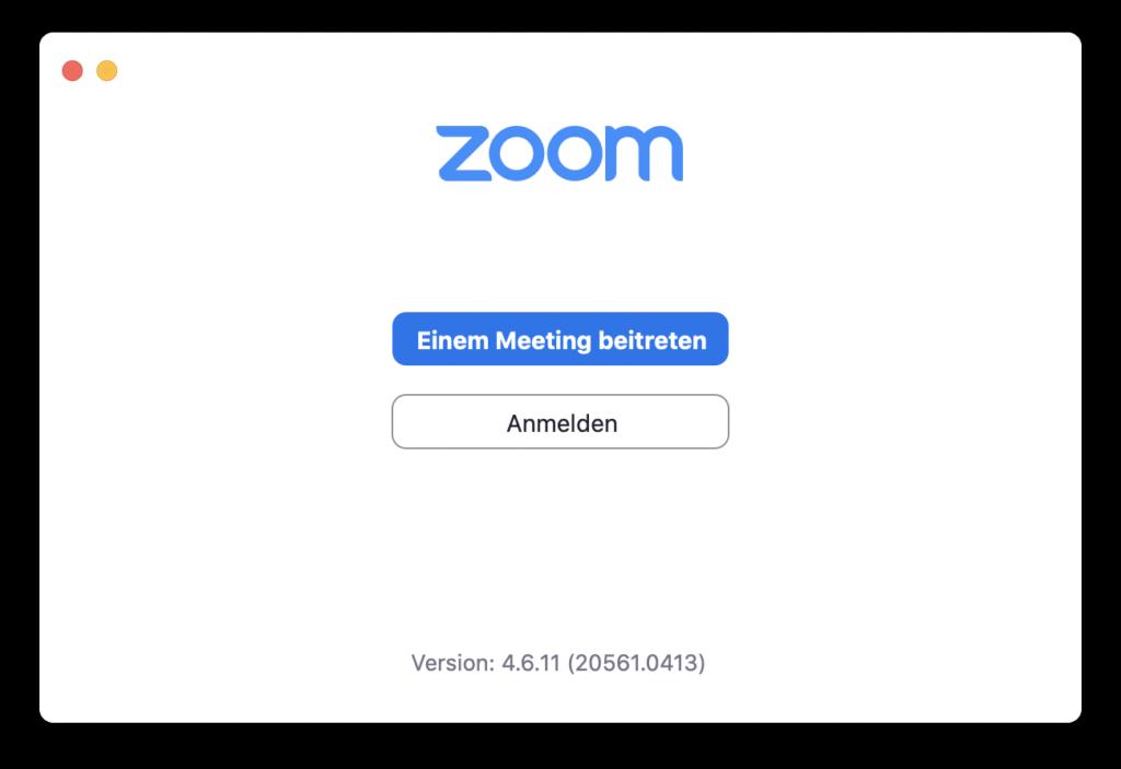 Zoom Computer starten