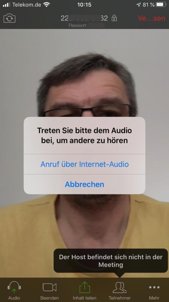 Zoom iPhone beitreten