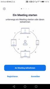 Zoom App starten