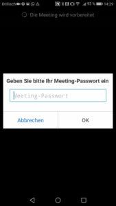 Zoom App Passwort